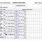 Classic Conventional and Reversible Score Sheet
