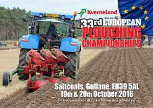 European Reversible Ploughing Championships - 19th & 20th October 2016